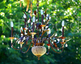 Garden chandelier Etsy UK