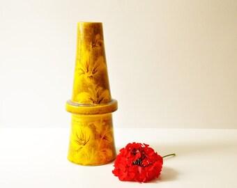 Midcentury Modern Yellow Ceramic Vase