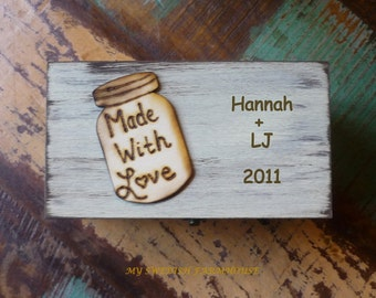 Rustic Recipe Box -  Painted and Distressed in the COLOR of YOUR CHOICE