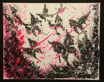 Acrylic modern art Butterflies