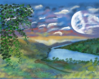 Big Moon By The River