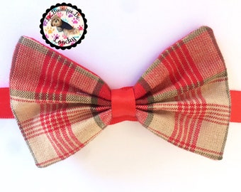 BOWTIE for dog chic british 100% cotton (up to 33cm neck)