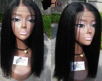 Noami Semi kinky straight wig / Lace closure (1,1b,4, 30, 1b/30 &99j)