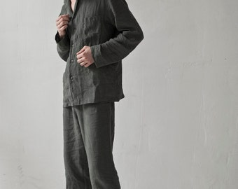MENS LINEN PAJAMA, sleepwear set