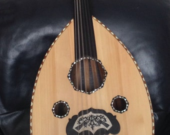 Egyptian Arabic Oud Fretless Lute + padded bag and pick