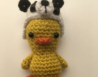 Duck // Amigurumi // crochet // panda bear // handmade gift / stuffed toy