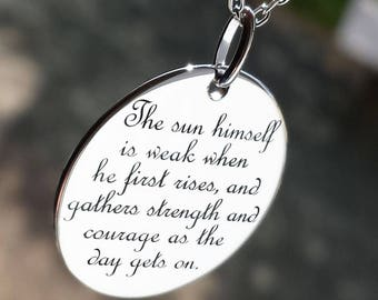 Silver Pendant Necklace - AlomiAbroad Jewellery Gift for children, lovers, friendship, a family member