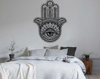 Hamsa Hand Hindu Spiritual Wall Decal Sticker Bedroom Living