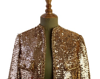 Vintage Gold Sequin Jacket