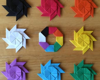 origami fidget spinner instructions