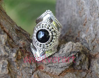 Black Onyx Ring, Black Stone Ring, Silver Ring, Black Silver Ring, Black Onyx Jewelry, Sterling Silver Ring, Size 4,5,6,7,8,9,10,11,12,13,14