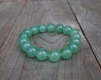 10mm Aventurine Beaded Bracelet