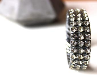 Vintage Rhinestone Bracelet, Vintage Jewelry
