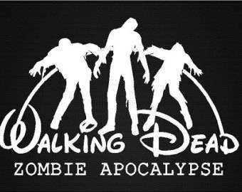 Disney Walking Dead Zombie Apocalypse Decal