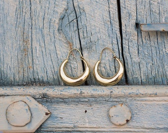 Earrings Brass Hoops   / Boucles d'oreilles Créoles
