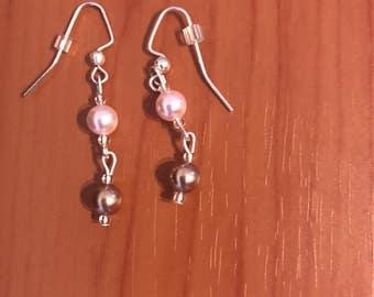 Two Swarovski Pearl Earrings