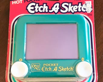 Green Teal Pocket Etch A Sketch Ohio Art