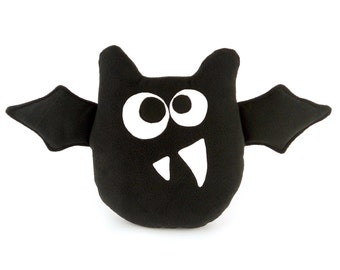 Decorative toy-pillow in shape of cute bat | Halloween bat pillow | Bat toy - SoftDecor