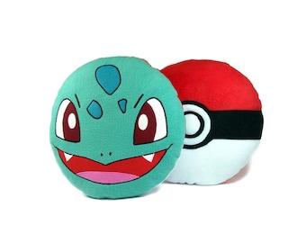 Pokemon pillow Bulbasaur | Cute Bulbasaur toy | Pokemon toy-pillow - SoftDecor