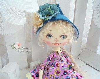 Art doll, fabric doll, Soft doll, textile doll, interior doll, doll, cloth doll, home decor