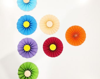 Small Paper Flowers, Paper flowers, rosettes