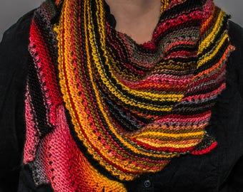 Dragon tail scarf in Merino Wool