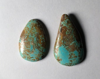 Sleeping Beauty Turquoise, 2 stone Set Cabochons