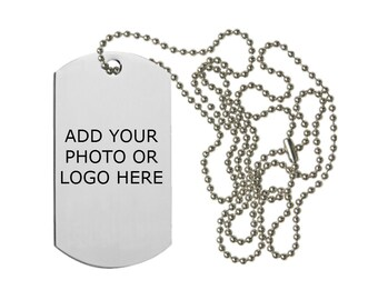 Customized one sided Dog tag - Sublimation. Just add your photo or image!