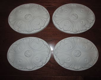 Oval Decorative Onlay - set of 4