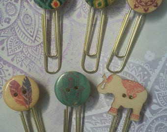 Bohemian Planner Paperclips / Bookmarks