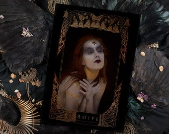 """Fine Art Print ≈A3 (28.5/40.3cm) of """"Aoife"""", limited series of 30 copies - Collaboration between Psyche Ophiuchus and Yoann Lossel"""