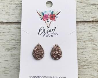 10x14 Rose Gold Teardrop Earrings
