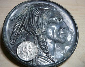 1950 Giant Indian Head Nickel Sault Ste. Marie Michigan 500 locks on reverse