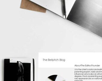 Blog Media Kit Template, Blogger Media Kit, Mediat Kit Template, Media Kit Form, Marketing Form - Powerpoint