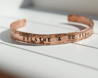 copper etched bracelet