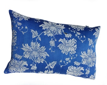 Cushion cover made of beautiful blue antique fabric