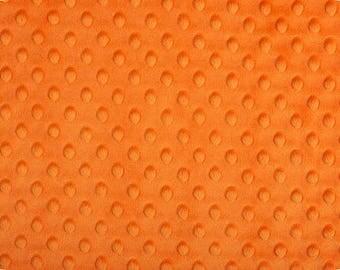 Shannon Minky Fabric, Orange Dimple Dot Minky, Orange Minky Fabric, Fabric by the Yard