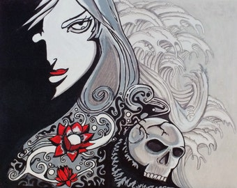 Gothic Painting - the storm of thought: original art work hand painted