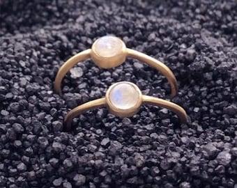 Petite moonstone ring