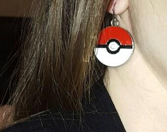 Pokeball Hypoallergenic Earrings