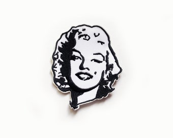 1x MARILYN MONROE patch Iron On Embroidered Applique tattoo retro pin up Rockabilly black white icon star