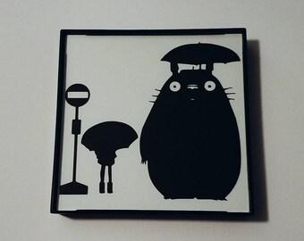 "Totoro Framed Silhouette [4""x4""]"