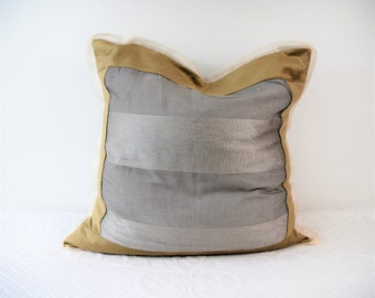 Big Steel lining, cushion for sofa, elegant Silver cushion pillow