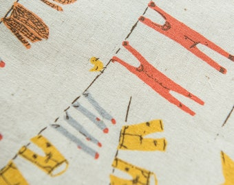 Clothesline in Yellow by Heather Ross for Kokka by the Fat Quarter (FQ)