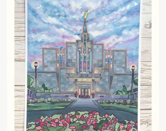 Numbered LDS Temple Painting Print