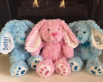 Personalized Bunny, Easter plush, Bunny plush, Stuffed bunny