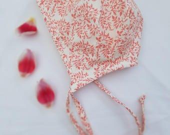 Pink floral bonnet