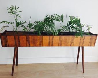 Midcentury Modern Danish Indoor Rosewood Planter / Plant Stand, Denmark 1970s