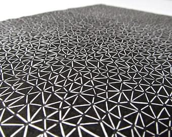 Print a drawing subject network of triangles