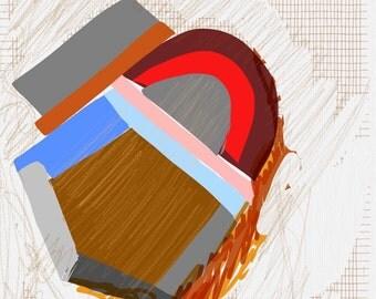 Art Book contemporary geometric digital prints #4